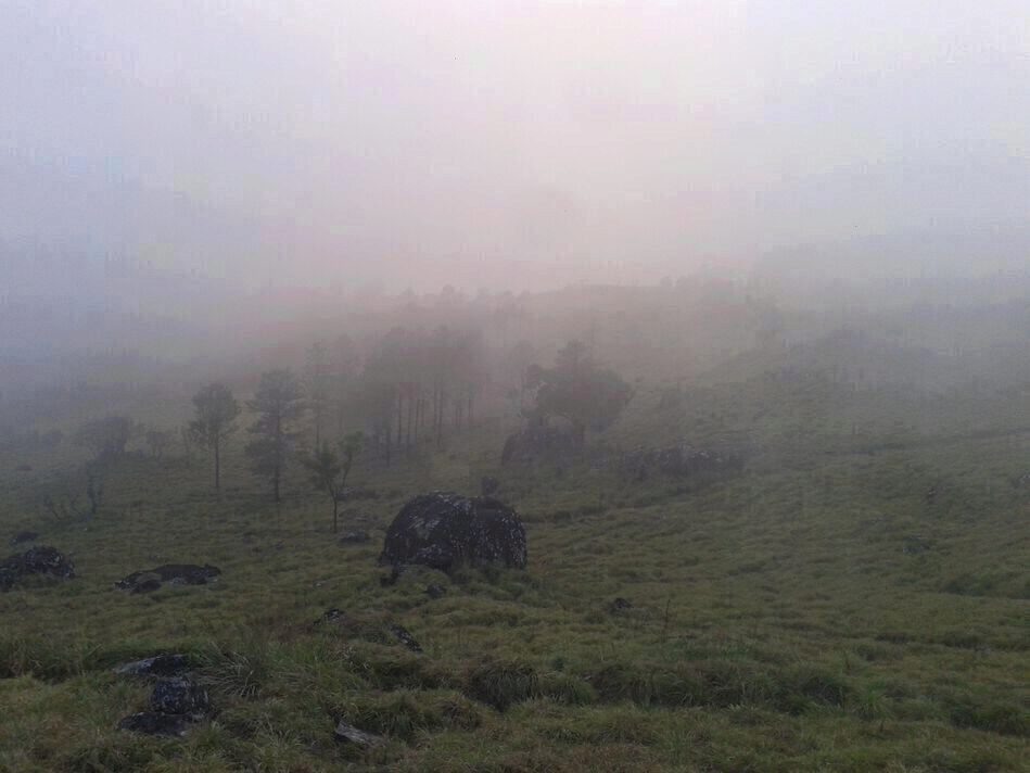 a picture of the peak in foggy conditions