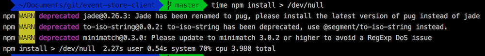 NPM run for the same project